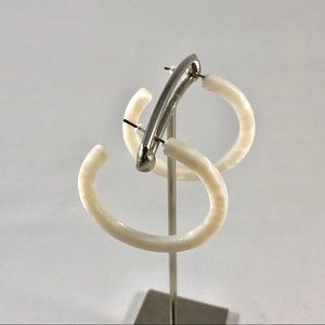 Jewelry - Resin white hoops